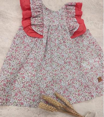Vestido liberty coral
