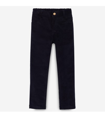 Pantalón micro pana negro...